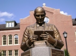 The McGuffey bust off the McGuffey Memorial in front of McGuffey Hall