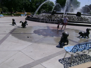 Black Squirrel Statues