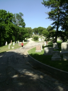 Road to Amelia Bloomer's Grave