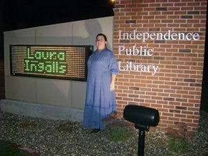 Sarah Uthoff at the Independence (Iowa) Public Library