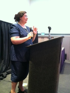Sarah presenting at LauraPalooza 2012