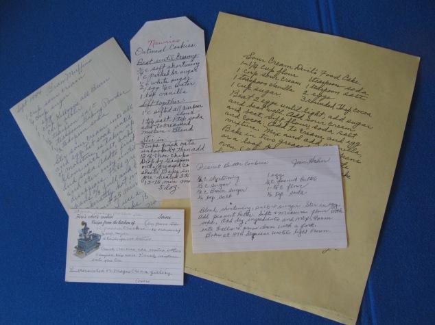Hand Written Recipes