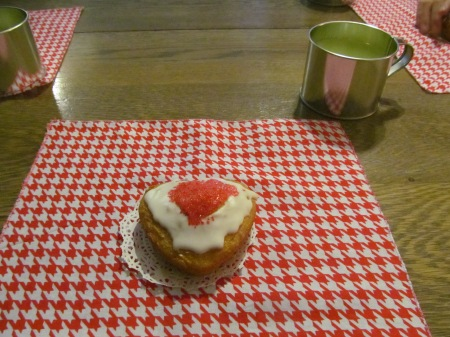 Heart Cake and Tin Cup
