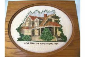 Embroidery of Limberlost House