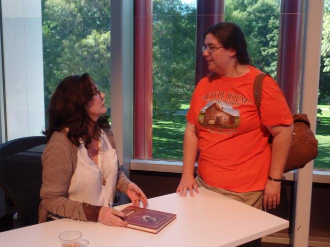 Melissa Gilbert Signing My Book