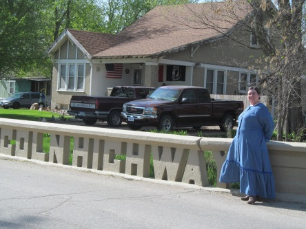 Sarah at the Toledo Lincoln Highway Bridge