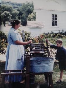 Throwback Photo - Washing Demonstration at Ushers Ferry Historic Village