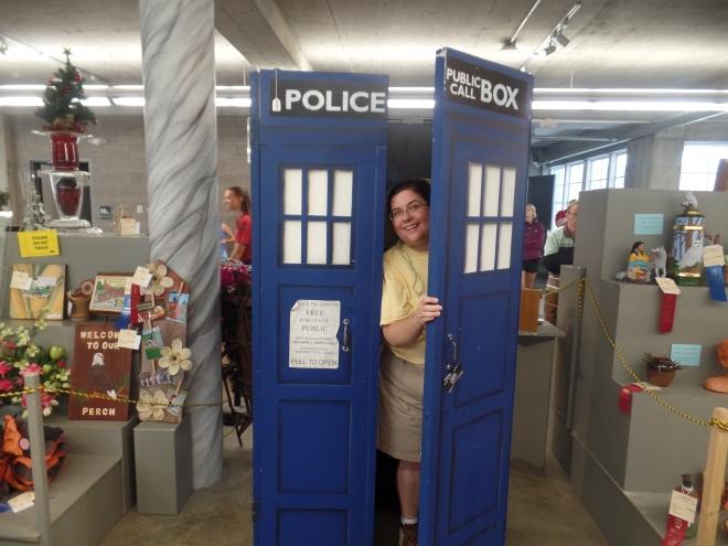 Sarah in TARDIS