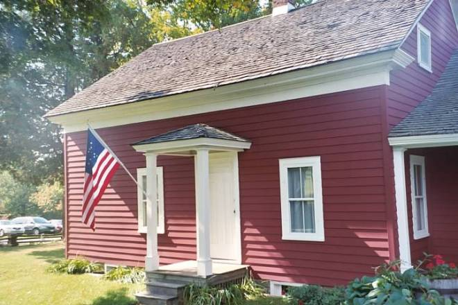 Wilder House with Flag