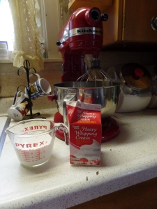 Heavy Whipping Cream in Mixer