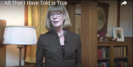 Pamela Smith Hill standing in Rocky Ridge Living Room