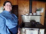 Sarah in Ma's Kitchen on Ingalls Homestead