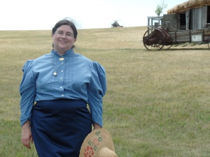 Sarah on Ingalls Homestead