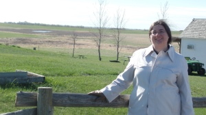 Sarah on Ingalls Homestead in April