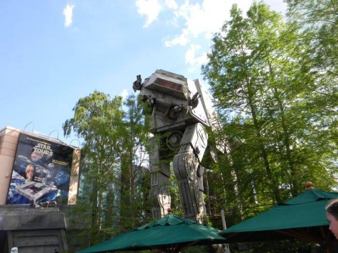 Giant AT-AT walker outside Star Tours at Walt Disney World