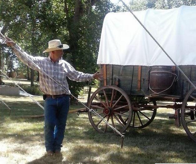 Doug Hansen and wagon