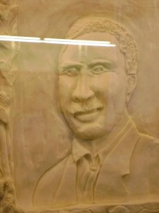 George Washington Carver carved in Butter
