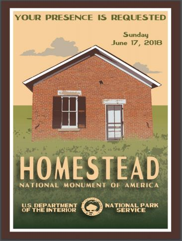 A National Parks style poster for Homestead National Monument