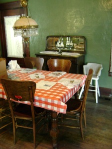 A late 19th century kitchen table