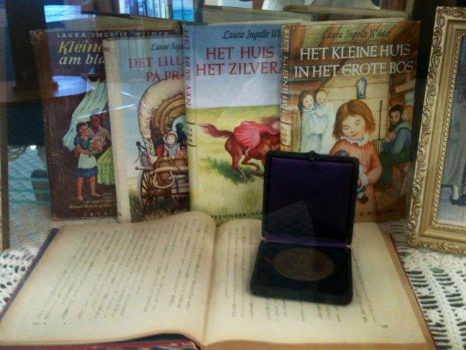 Original Wilder Medal on display in case