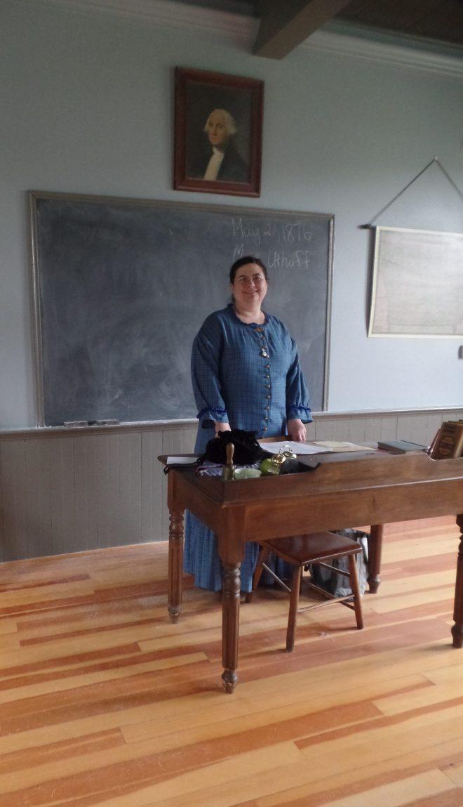 Sarah at Coralville School