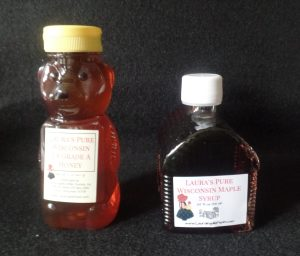 Honey Bear and Maple Syrup Cabin Containers