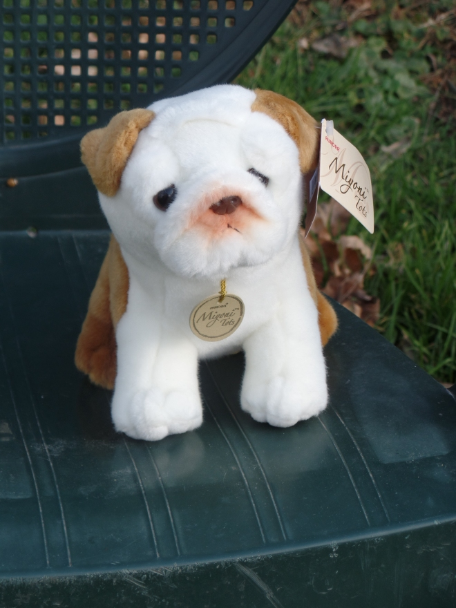 Stuffed Brindle Bulldog