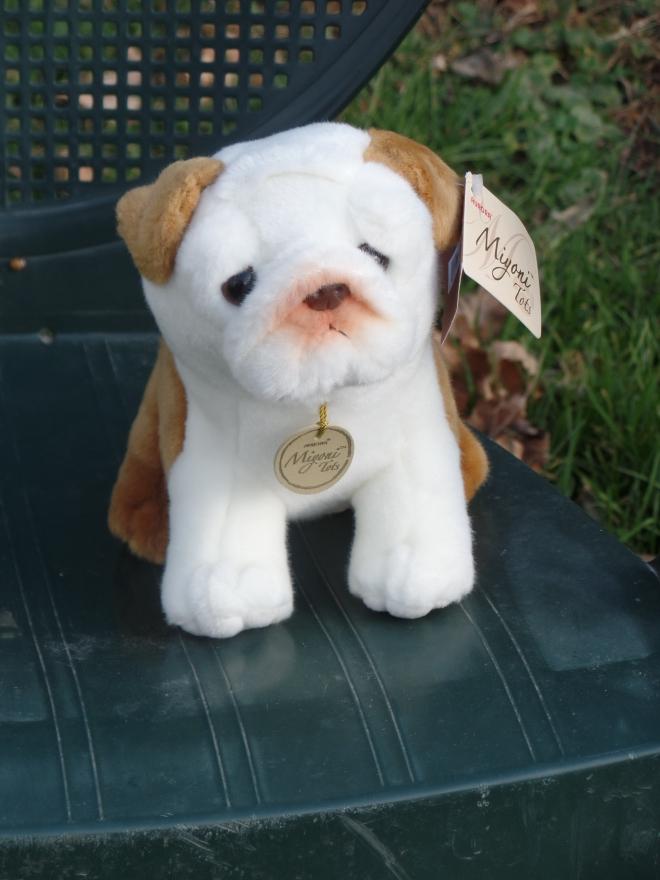 Stuffed Brindle Bulldog