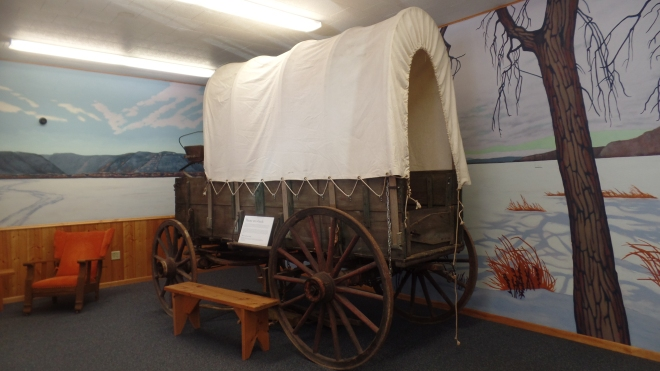 Wagon in Laura Ingalls Wilder Museum in Pepin WI
