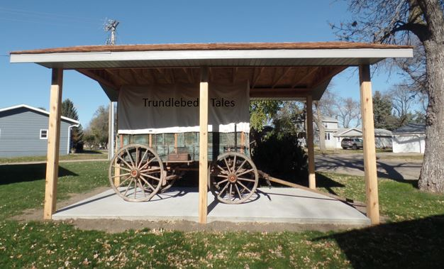 Wagon under car port type shelter