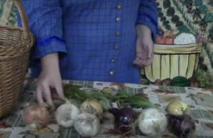 Still from Braiding Onions Video