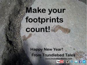 Foot prints from Plum Creek Card