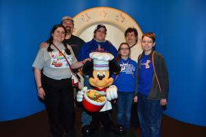 Family at Chef Mickey's