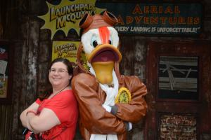 Sarah and Launchpad McQuack