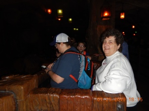 Jen and Mom on Seven Dwarfs Mine Train