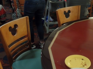 Chef Mickey's Mickey Designed Chairs