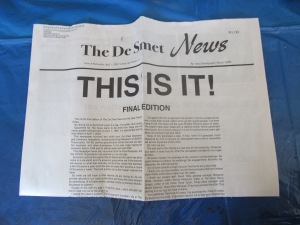 Full Above the Fold of the Final Issue