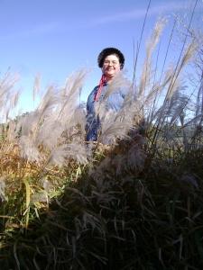 Sarah in Pampas Grass