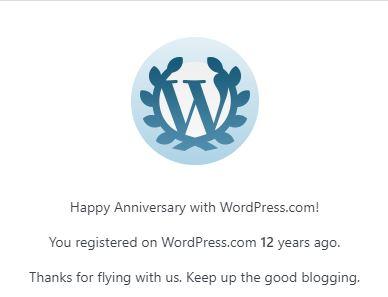 Wordpress Anniversary Image